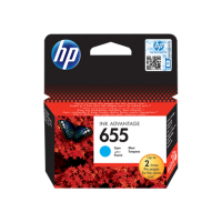 HP 655, Оригинальный картридж HP Ink Advantage, Голубой for Deskjet Ink Advantage 3525/4615/4625/5525/6525, up to 600 pages. (CZ110AE)
