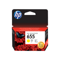 HP 655, Оригинальный картридж HP Ink Advantage, Желтый for Deskjet Ink Advantage 3525/4615/4625/5525/6525, up to 600 pages. (CZ112AE)